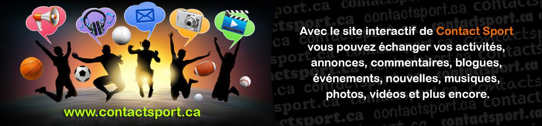 Création publicitaire pour Contact Sport