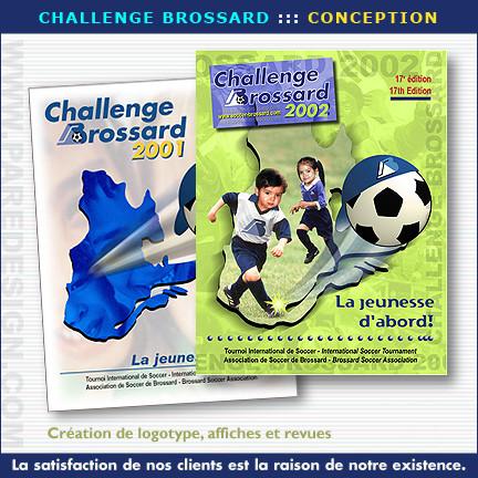 Conception graphique et catalogues pour Challenge Brossard