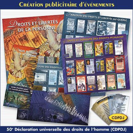 Création publicitaire pour la CDPDJ