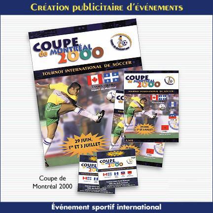 Promotion publicitaire pour la Coupe de soccer de Montréal