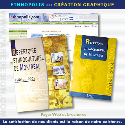 Site internet, brochure et catalogue pour Ethnopolis