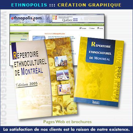 Site internet, brochure et catalogue pour Ethnopolis
