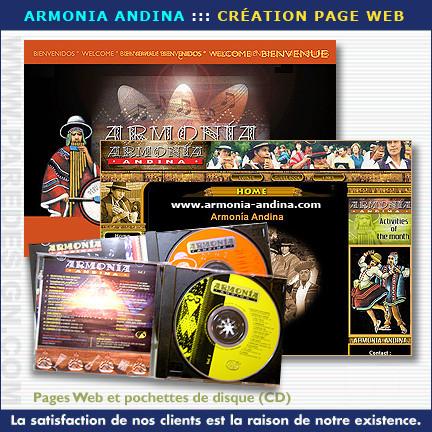 Promotion publicitaire et site Web pour Armonia Andina