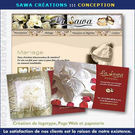 SAWA créations : conception site Web et papeterie