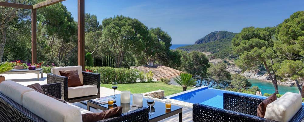 Belle villa avec piscine privée et belle vue sur la mer, location vacances Tamariu, Costa Brava