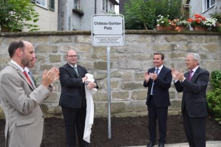 Inauguration de la place de Château-Gontier