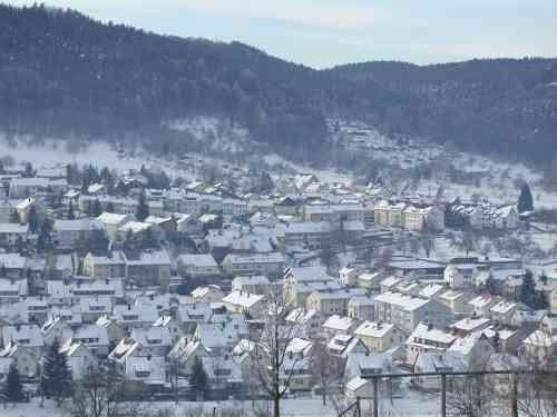 Murrhardt sous la neige