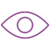 Lilafarbenes lineares Icon: Auge