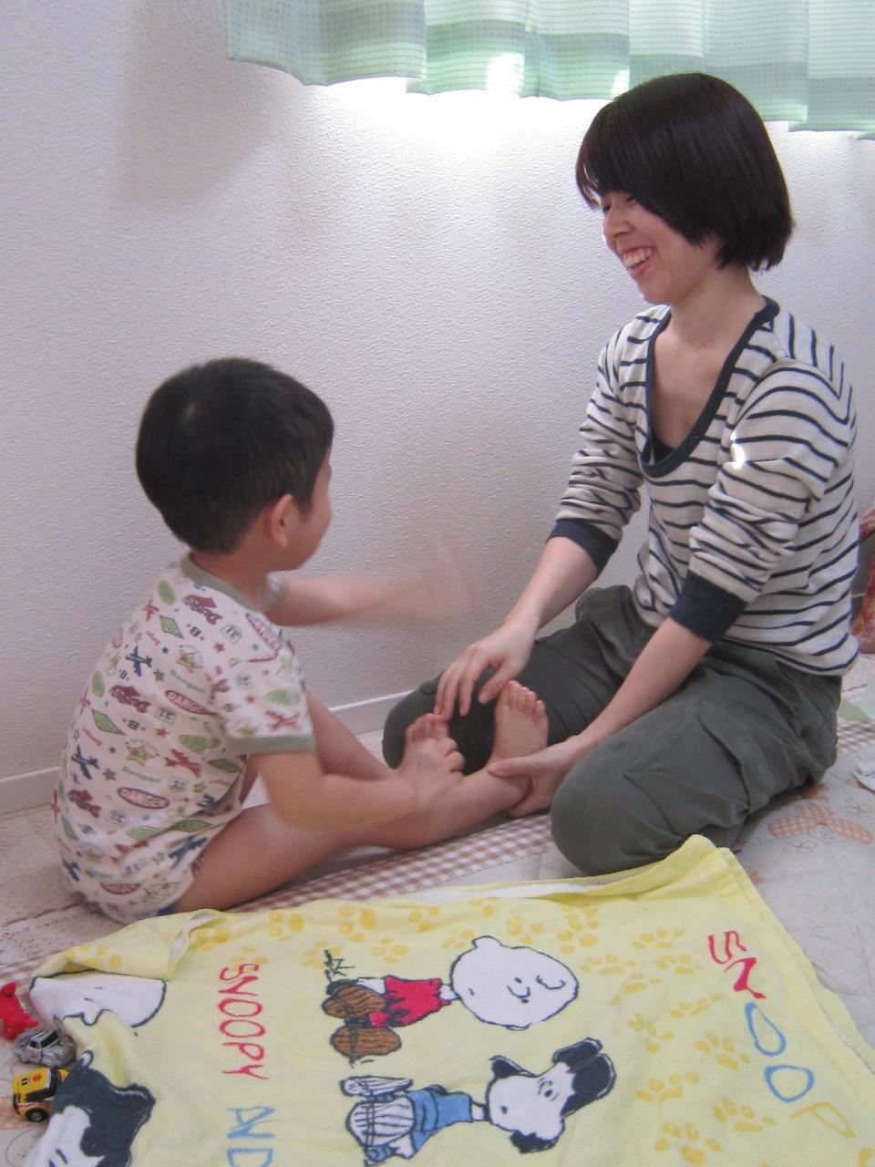 大きくなっても、ママとの触れ合いの時間は楽しい時間♪