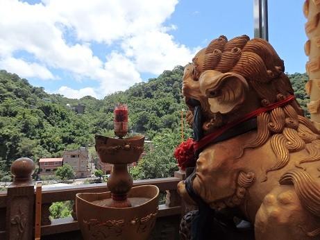 台湾・五路財神廟からの眺め