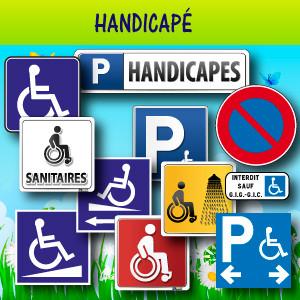 Panneaux et adhésifs handicapé