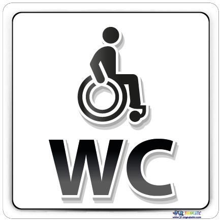 Plaque de porte handicap jr signaletic panneaux campings for Porte wc handicape