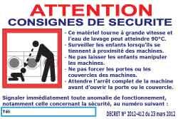 panneaux et adhésifs décret laverie