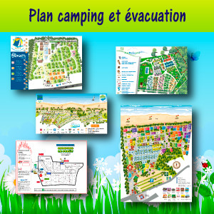 Plan camping et évacuation