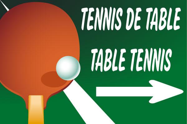 Panneau tennis et tennis de table jr signaletic panneaux campings - Wake sport tennis de table ...