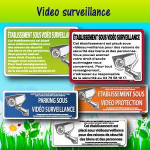Panneaux et adhésifs vidéo surveillance