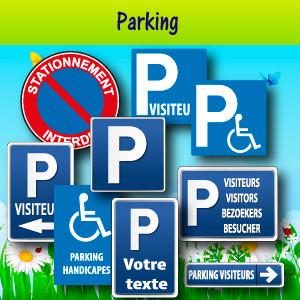Panneaux et adhésifs parking