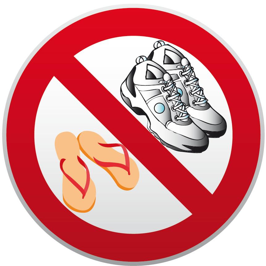 Chaussures Interdits Jr Signaletic Panneaux Campings