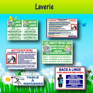 Panneaux et adhésifs Laverie