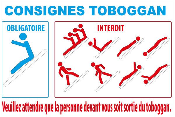 Toboggan Jr Signaletic Panneaux Campings