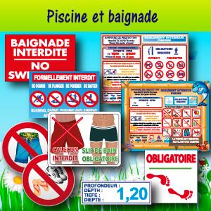 Panneaux et adhésifs pour piscine et baignade