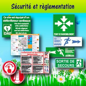 Panneaux et adhésifs sécurité et règlementaire