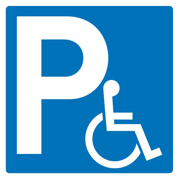 panneau parking handicap jr signaletic panneaux campings. Black Bedroom Furniture Sets. Home Design Ideas