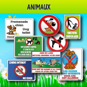 Panneaux et adhésifs animaux