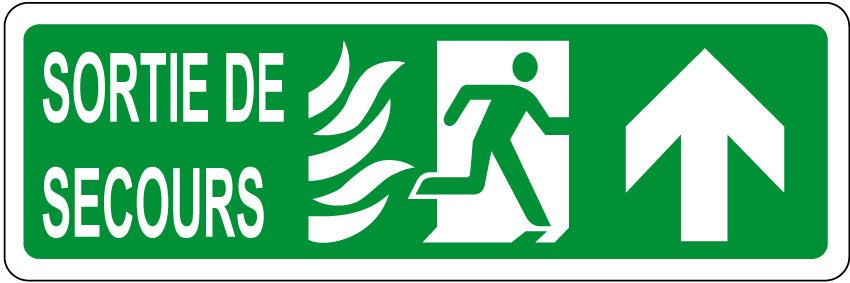 Panneau Sortie De Secours JRSignaletic Panneaux Campings - Porte de secours