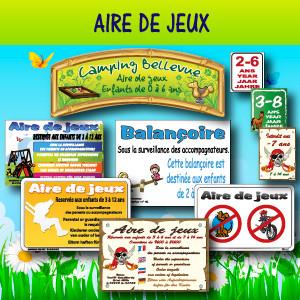 Panneaux et adhésifs pour Aire de jeux
