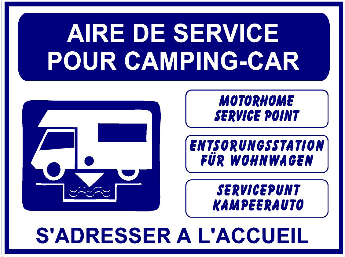 aire de service camping car jr signaletic panneaux campings. Black Bedroom Furniture Sets. Home Design Ideas