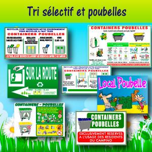 Panneaux et adhésifs Tri sélectif et poubelles