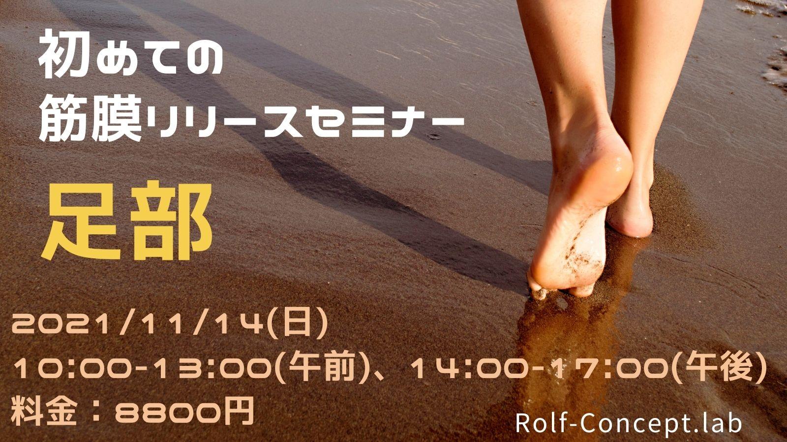 2021/11/14(日) 初めての筋膜リリースセミナー 足部 in東京