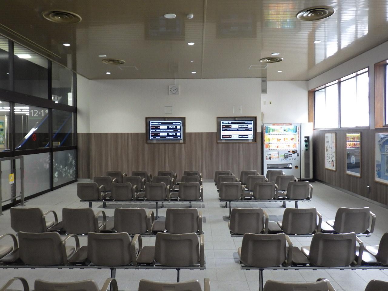 駅舎待合室改装