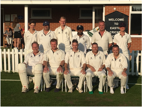 James Harper (first row, centre) pictured with Easton CC 2nd XI
