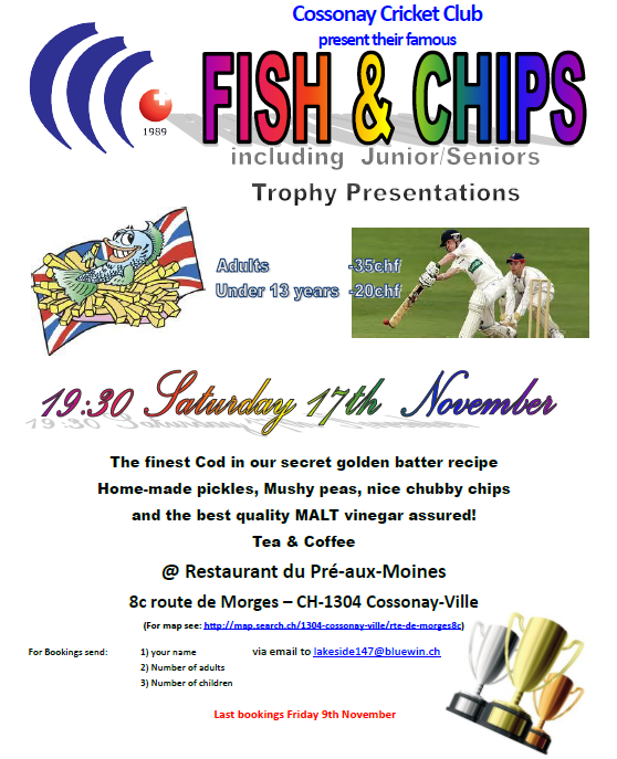 CCC Fish & Chips Supper (17.11.2012)