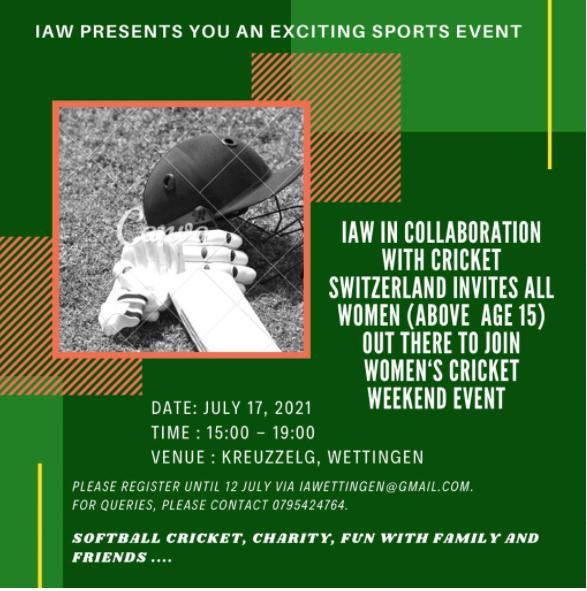 IAW women's cricket weekend