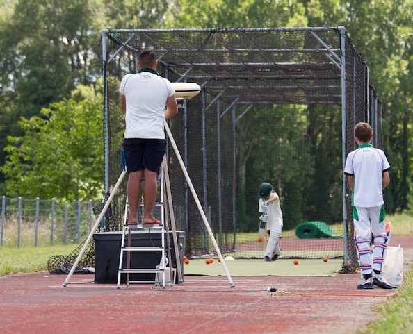 Junior cricket is thriving in the Suisse-Romande (Photo: Yvonne Gallagher)