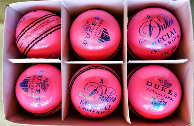 From 2015 season, Cricket Switzerland is using Dukes pink balls