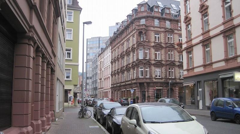 この日はフランクフルトに一泊。ホテルの近くより