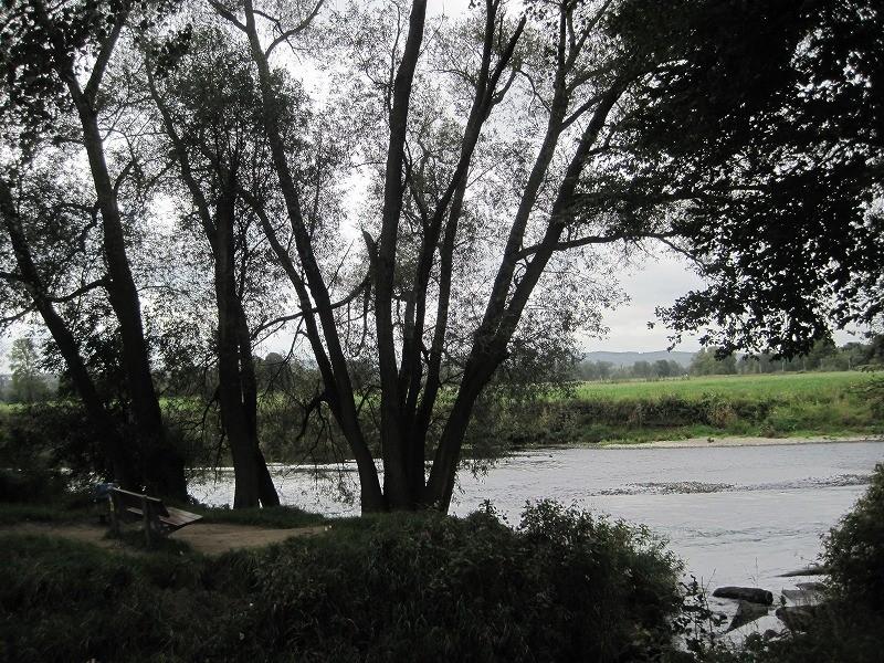 イギリスまで続いている川らしい。昔はこの川の向こうに住んでいたとのこと。