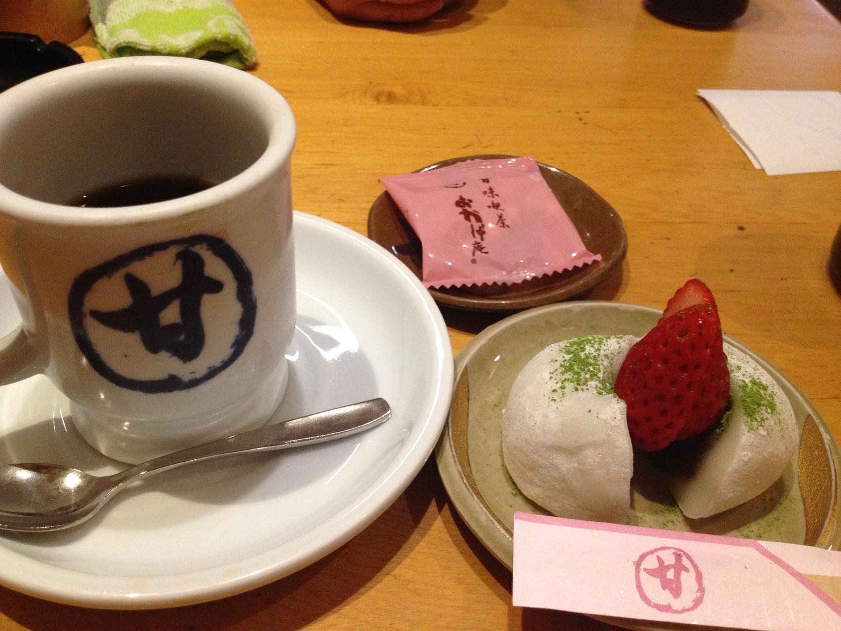 名古屋へ到着 初!コメダ珈琲 の、姉妹店、おかげ庵!