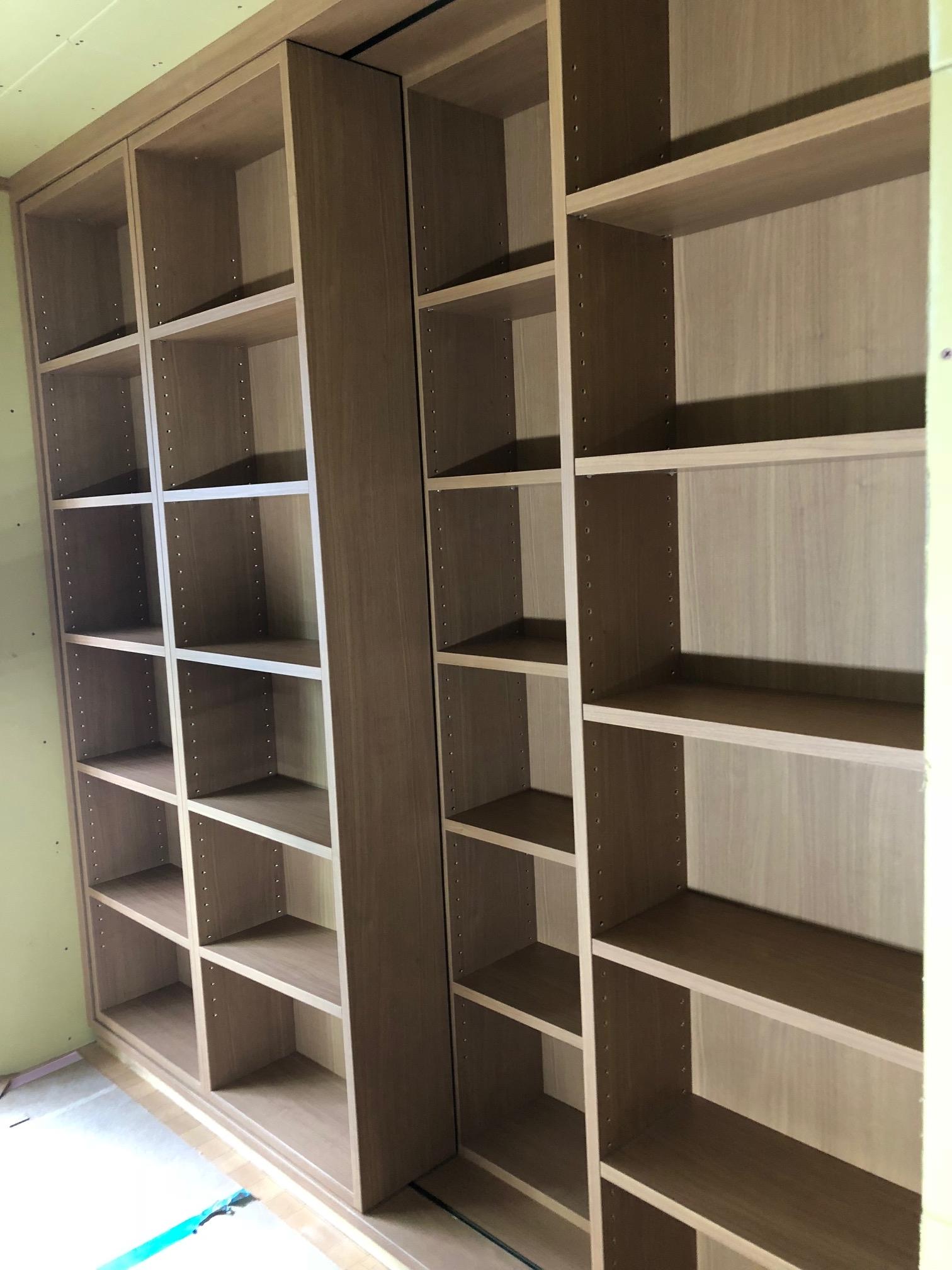 二重の大容量本棚