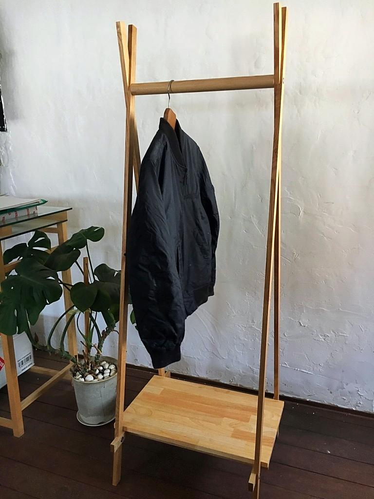 木製 ハンガーラック オーク無垢材  オーダー家具