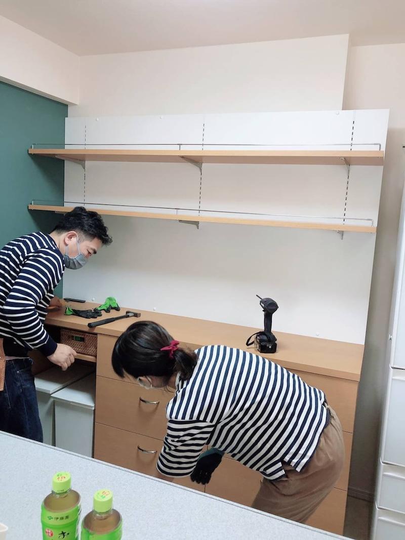家具の取り付けの流れ