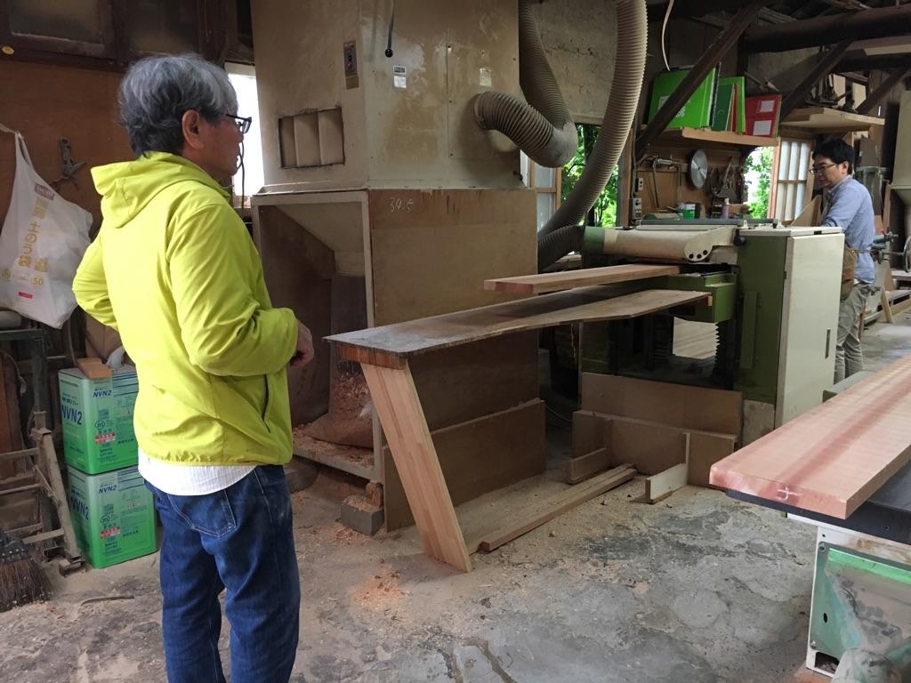 製作の様子 常磐家具製作所
