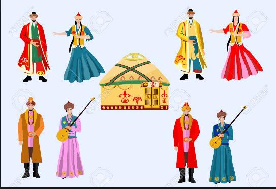 Kasachische Kostüme
