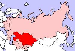 Landeskarte Kasachstan
