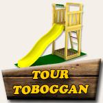 Fabrication tour toboggan en bois
