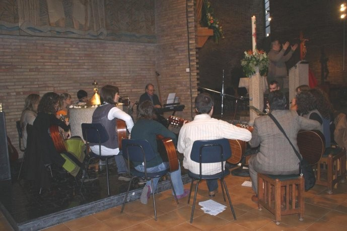 Grup instrumental que va acompanyar la celebració.